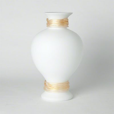 Frosted White Torcello Vase