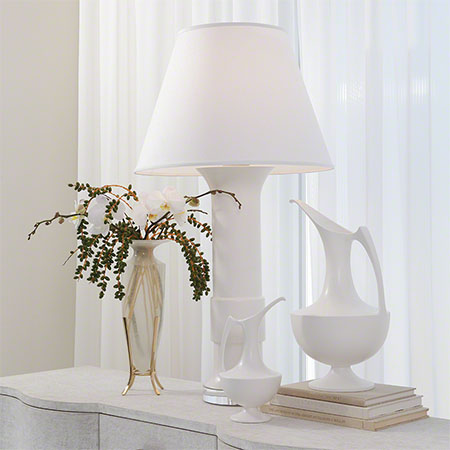 Alabastron Vase, Collar Lamp, Ewers