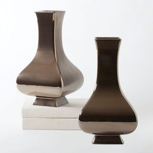 Bronze Square Slope Vase
