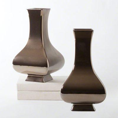 Bronze Square Slope Vase