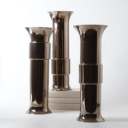 Bronze Collar Vases