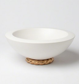 Golden Ceramic Rope Bowl