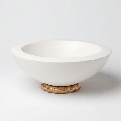 Golden Ceramic Rope Bowl
