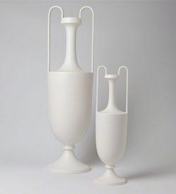 Elongated Grecian Amphoras