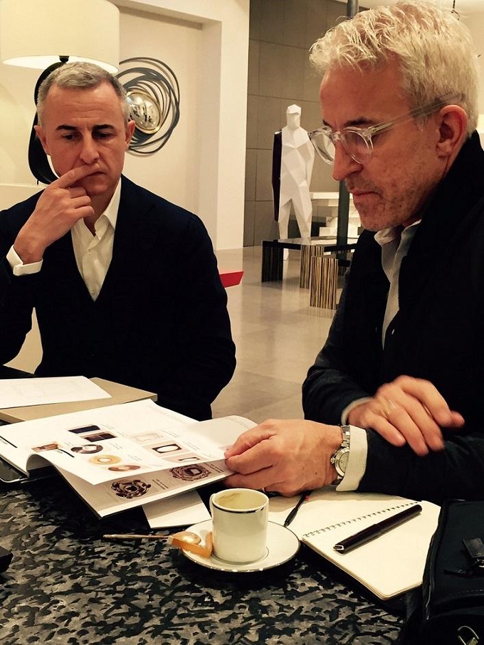 Roger with Hervé Van der Straaten