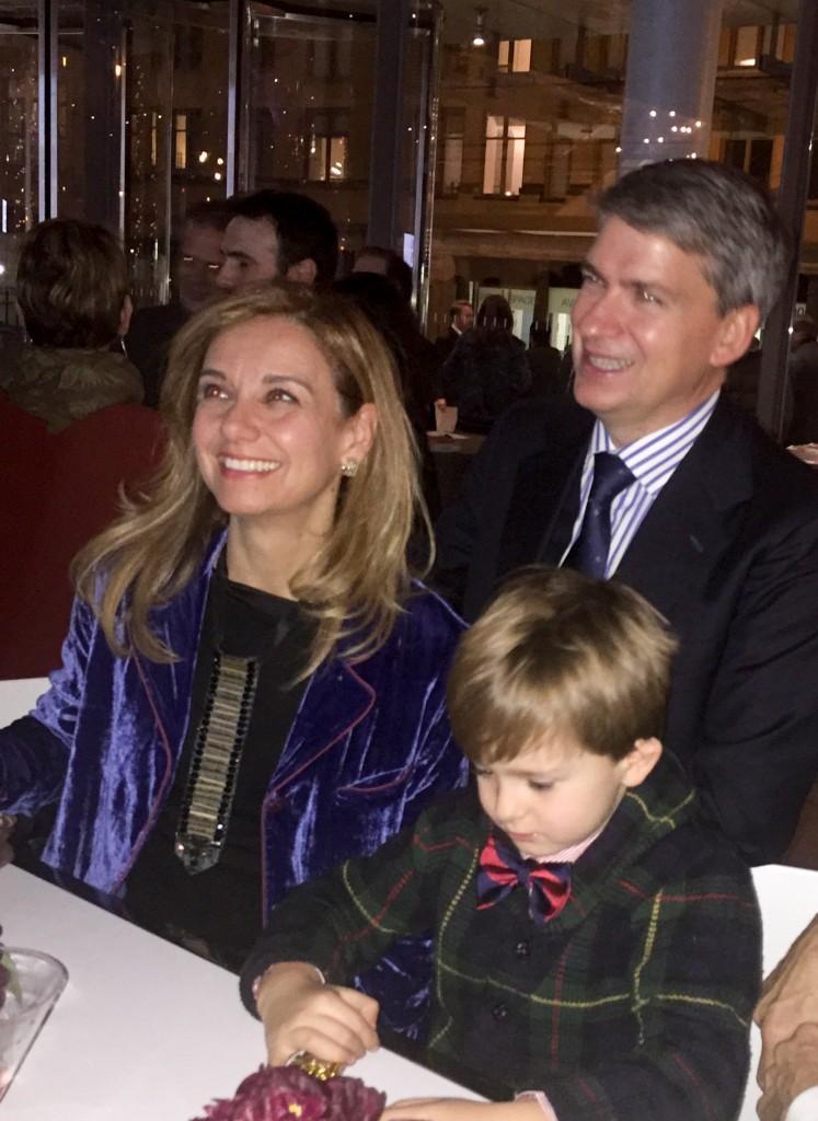 Leonardo with mom and dad