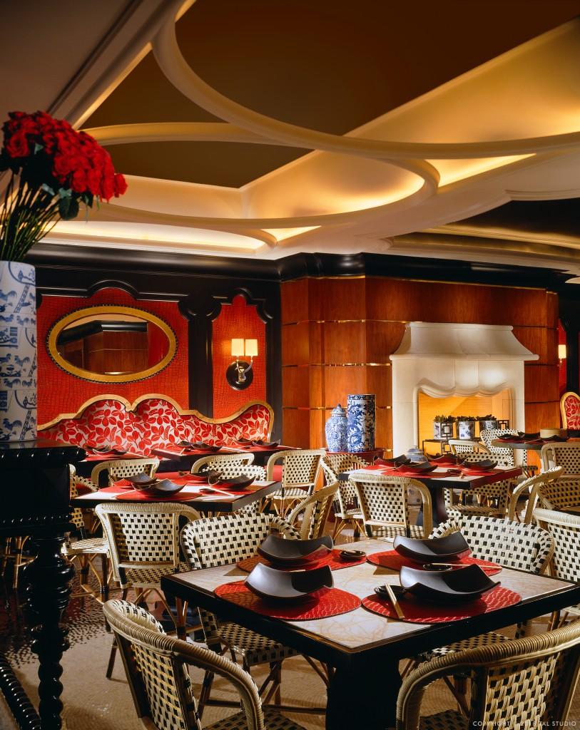Main dining room at Red 8 restaurant - Wynn Las Vegas